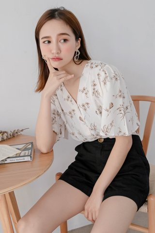 (BACKORDER) WITH 365 DAYS KOREA DRIED FLORAL PRINT TOP
