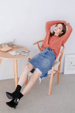 WITH 365 DAYS KOREA WASHED DENIM SKIRT