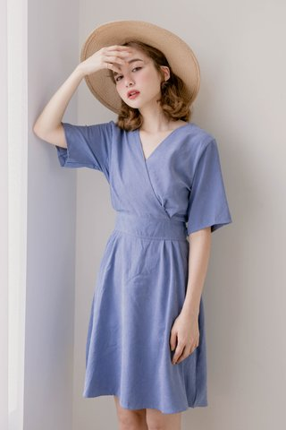 WITH 365 DAYS KOREA ARIMEE MADE DRESS IN DUSTY BLUE