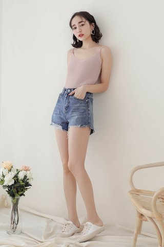 WITH DAYS BASIC KNIT CAMI TOP IN BABY PINK