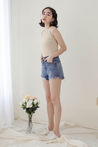 WITH DAYS BASIC KNIT CAMI TOP IN CREAM