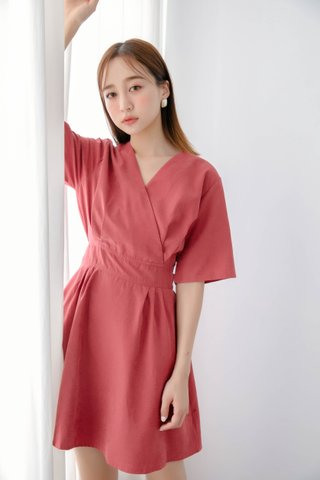 WITH 365 DAYS KOREA ARIMEE MADE DRESS IN DUSTY RED