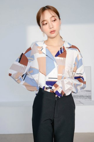 (BACKORDER) BOCY KOREA ABSTRACT PRINTED SHIRT
