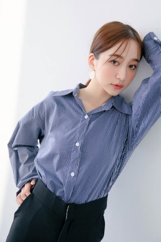 BOCY OL STRIPE SHIRT IN BLUE