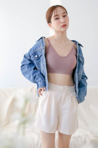 (BACKORDER) WITH 365 DAY BRA TOP IN DUSTY PINK