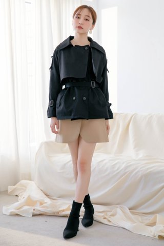 WITH 365 DAYS ARIMEE MADE BELTED COAT IN BLACK