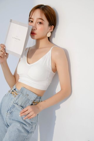 (BACKORDER) WITH 365 DAY BRA TOP IN WHITE
