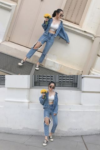 JU DAYS KOREA BF OVERSIZED DENIM JACKET