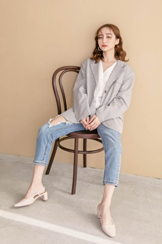 ONNE KOREA CHECKED BOYFRIEND BLAZER