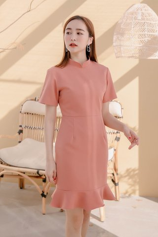 DARLING ME KR A'MADE QIPAOS DRESS IN PEACH