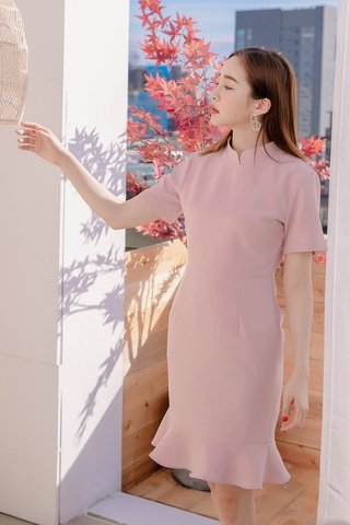 DARLING ME KR A'MADE QIPAOS DRESS IN BABY PINK