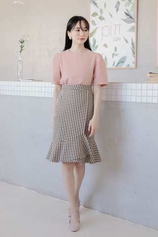 DARLING ME KR 170CM ASYMMETRICAL CHECKERS SKIRT