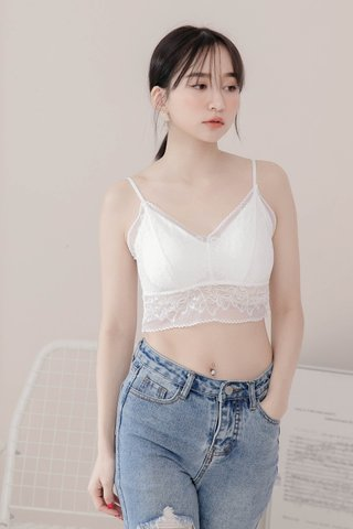 (BACKORDER) DARLING ME LACE BRALETTE IN WHITE