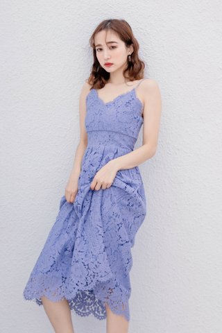 HANNAH KR LACE DRESS IN BLUE LILAC