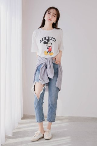 MANYMORE KR MICKEY TEE IN WHITE