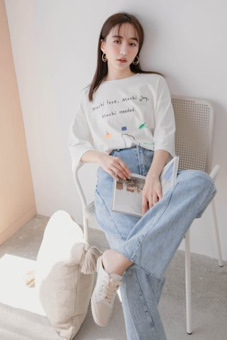 TEA TOAST MACHI GRAPHIC TEE IN WHITE