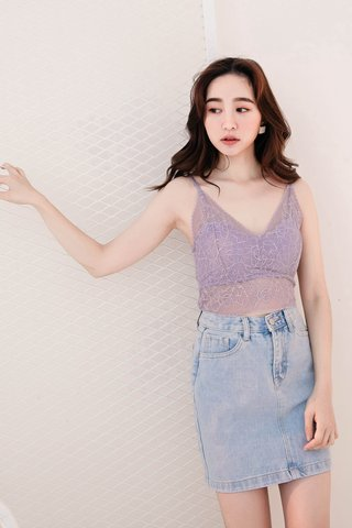 BE LITTLE KR LACE BRALETTE IN BABY YAM