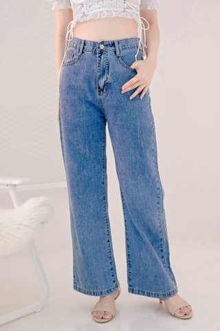 LUV DIARY KR -5KG WIDE LEG JEANS (NG SALES)