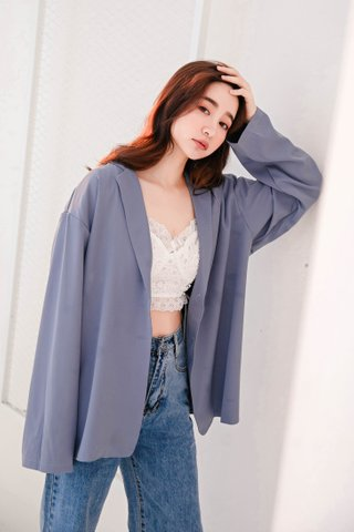 LUV DIARY KOREA BLAZER IN LAZY BLUE  (NG SALES)