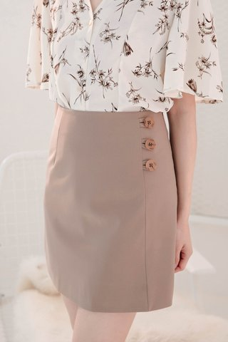TEA TOAST KR BUTTON -5KG SKIRT IN KHAKI (NG SALES)