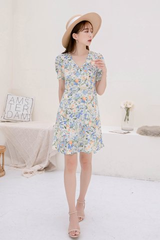 SUNDAY KOREA SUMMER FLORAL DRESS