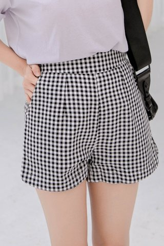 CHURROS DE KR -5KG CHECKED SHORTS IN BLACK