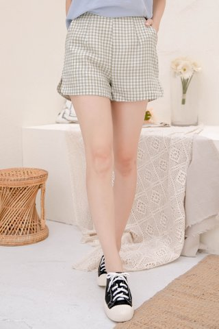 CHURROS DE KR -5KG CHECKED SHORTS IN BABY MINT