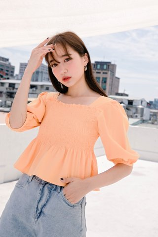 (BACKORDER) MIU DE KR 2 WAYS TOP IN LAZY ORANGE