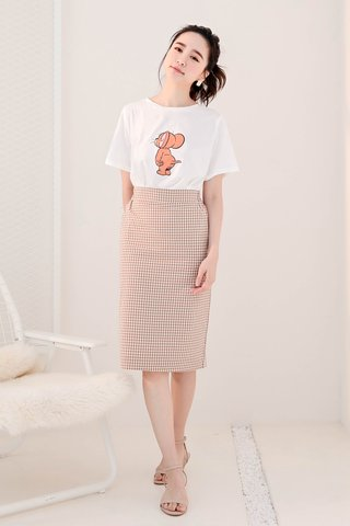 RUFF KOREA -5KG CHECKED SKIRT IN BROWN