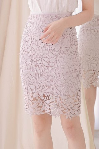RUFF KOREA -5KG LACE SKIRT IN TARO MILK