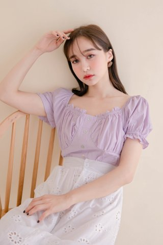 HELLO A' KR RUCHED TOP IN BABY YAM