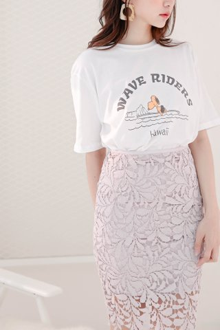 RUFF KR HAWAII SNOPPY TEE IN WHITE