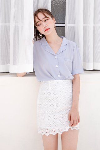 (BACKORDER) HELLO A' KR BASIC TOP IN BABY BLUE