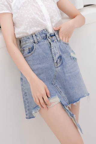 C'EST KR -5KG DENIM SKIRT IN BLUE