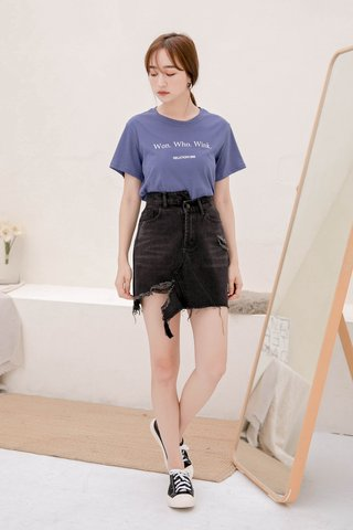 C'EST KR -5KG DENIM SKIRT IN BLACK