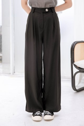 BUTTER DE KR 170CM WIDE LEG PANTS IN BLACK