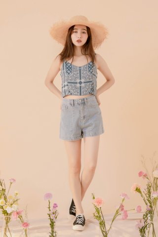 LE COUR KR BOHEMIA CAMI TOP IN BLUE