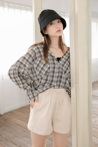 POTATO DE KR CONTRAST CHECKERED SHIRT IN BLUE