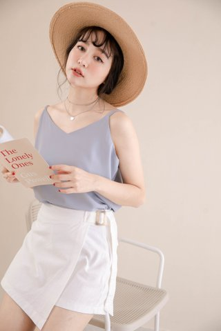 PEANUT CASUAL CAMISOLE TOP IN LAZY BLUE