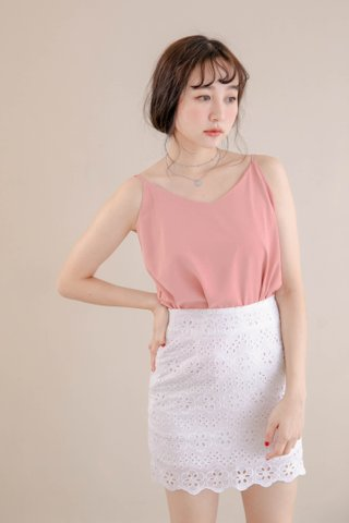 PEANUT CASUAL CAMISOLE TOP IN LAZY PEACH