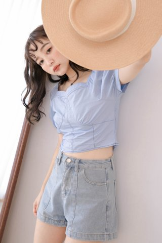 PEANUT KR FRENCH TOP IN BLUE