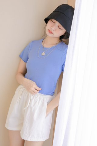 HONEY YU KR LETTUCE TOP IN BLUE