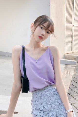 (BACKORDER) PEANUT CASUAL CAMISOLE TOP IN BABY YAM