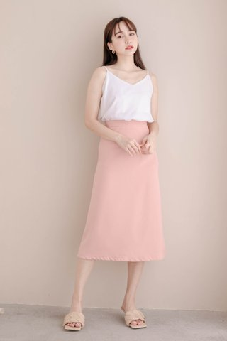 RAINIE KOREA MIDI SKIRT IN PEACH