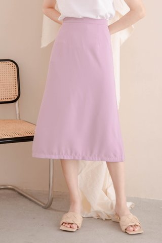 RAINIE KOREA MIDI SKIRT IN LAZY PINK