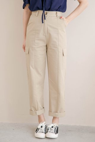 HANNAH KR DOUBLE POCKET 170CM PANTS IN KHAKI (NG SALES)