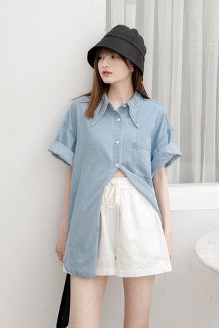 DAISY LOVE KR BF DENIM SHIRT