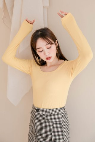 HONEY DEW KR BASIC TEE IN YELLOW