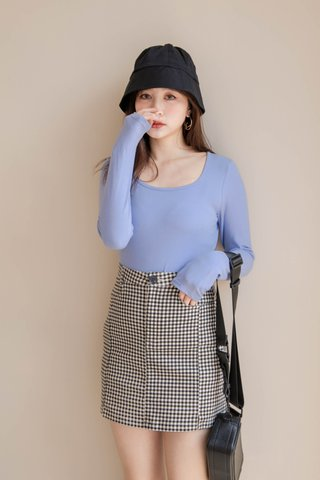 HONEY DEW KR BASIC TEE IN BLUE