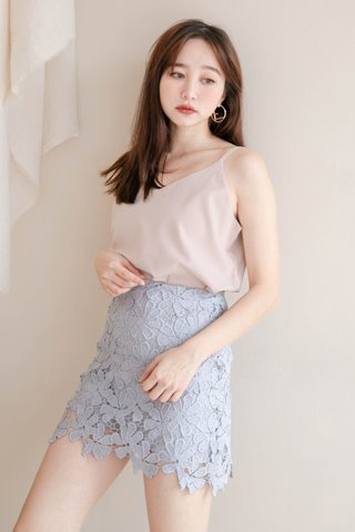 (BACKORDER) PEANUT CASUAL CAMISOLE TOP IN NUDE
